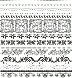 Border Pattern Free CDR Vectors File