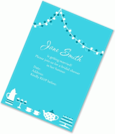 Bridal Invitation Card Free Vector CDR File