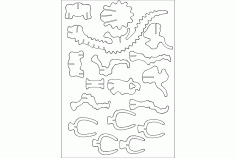 Brontosaurus 3mm Design Laser Cut DXF File