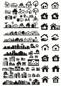 Buildings City Houses Vectors Free CDR Vectors File
