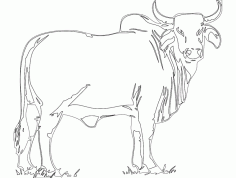 Bull Free Template DXF Vectors File