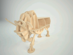Bull New 3d Puzzle Free Download Vector CDR File