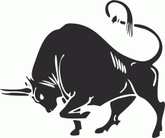 Bull silhouette Vector Free CDR Vectors File