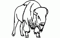 Bull Standing Free DXF Vectors File