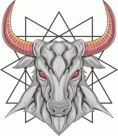 Bull T-shirt Print Design Free CDR Vectors File