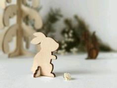 Bunny Wooden Animal CNC Laser Cut Template Free Vector CDR File