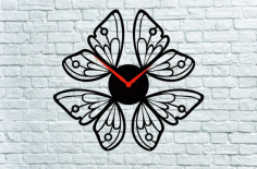 Butterfly Clock CNC Laser Cutting Free CDR File