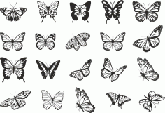 Butterfly Vector Art Collection Download Free Vector CDR File
