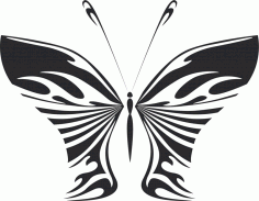 Butterfly Vector Art Illustration Free DXF Vectors File