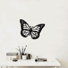 Butterfly Wall Art Decoration Laser Cut Free CDR File