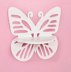 Butterfly Wall Shelf Laser Cut Plan Free CDR File
