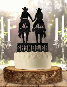 Cake Topper Laser Cut Free CDR File