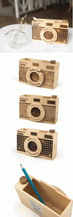Camera Pen Stand CNC Laser Cutting Free CDR File