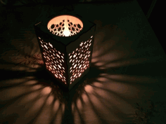 Candle Holder Nightlight Template Laser Cut CDR File