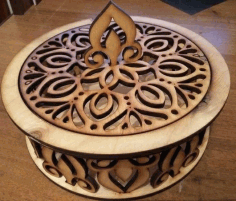 Candy Bowl Wooden Candy Dish CNC Laser Cutting CDR File