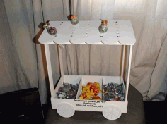 Candy Cart Sweet Trolly Laser Cut CDR File