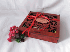 Candy Gift Box Plywood 4mm Laser Cut CDR File