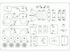 Car Parts with Number Free DXF Vectors File