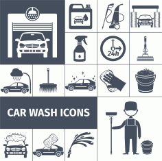 Car Wash Icons Download Free Vector CDR File