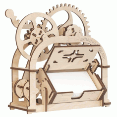 Card Holder Mechanical 3D Wooden Puzzle Box Free Vector DXF File