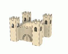 Castle Dollhouse Free Download DXF File