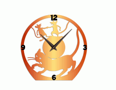 Cat and Mouse Wall Clock CNC Cutting DXF File