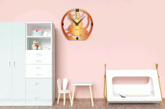 Cat and Mouse Wall Clock CNC Laser Cutting CDR File
