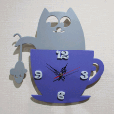 Cat Clock Free CDR Vectors File