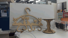 Cat Tail Hanger Laser Cut Free CDR File