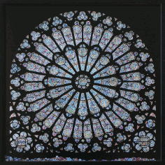 Cathedral Window Notre Dame Rose Window Laser Cut DXF File