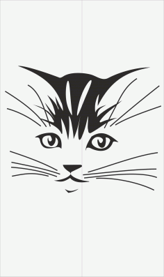 Cats Decal for Glass Vector Laser Cut CDR File