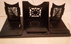 Cell Phone Stand Template Laser Cut Free CDR File