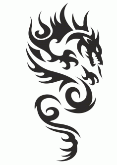 Celtic Phoenix Tattoo Dragon Vector free CDR Vectors File