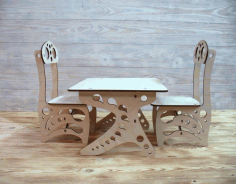 Chair and School Desk Laser Cut Design CDR File