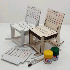 Chair Calendar CNC Laser Cutting Free CDR File