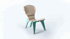 Chair Template CNC Laser Cutting DXF File