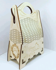 Champagne Gift Box Wooden Champagne Wine Bag Design Laser Cut CDR File