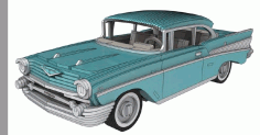 Chevrolet Bel Air 1957 – 3 Mm Free DXF Vectors File
