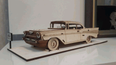 Chevrolet Bel Air 1957 Vector file for laser cutting CNC Free CDR Vectors File