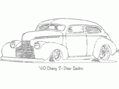 Chevy 2 Portas Sedan Free DXF Vectors File
