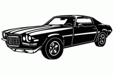 Chevy Camaro Car DXF File