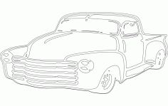 Chevy Car Sticker DXF File