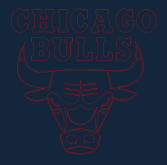 Chicago Bulls DXF Vectors File