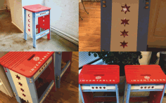 Chicago styled Stool Free DXF File