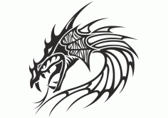 Chinese Dragon Head Tattoo Vector Free CDR Vectors File