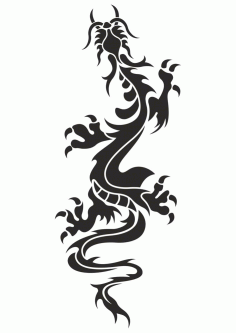 Chinese Dragon Tattoo Vector free CDR Vectors File