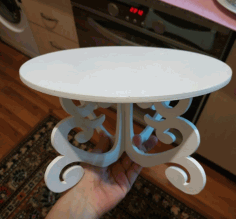 Christmas Cake Stands Decorative Cake Stands Ideas Laser Cut DXF File