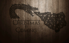 Christmas Dragon Laser Cut CDR File