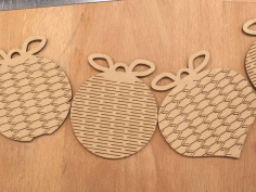 Christmas ornament CNC Laser Cutting Vector CDR File