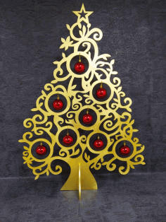 Christmas Ornament Tree Unique Christmas Decoration Laser Cut CDR File
